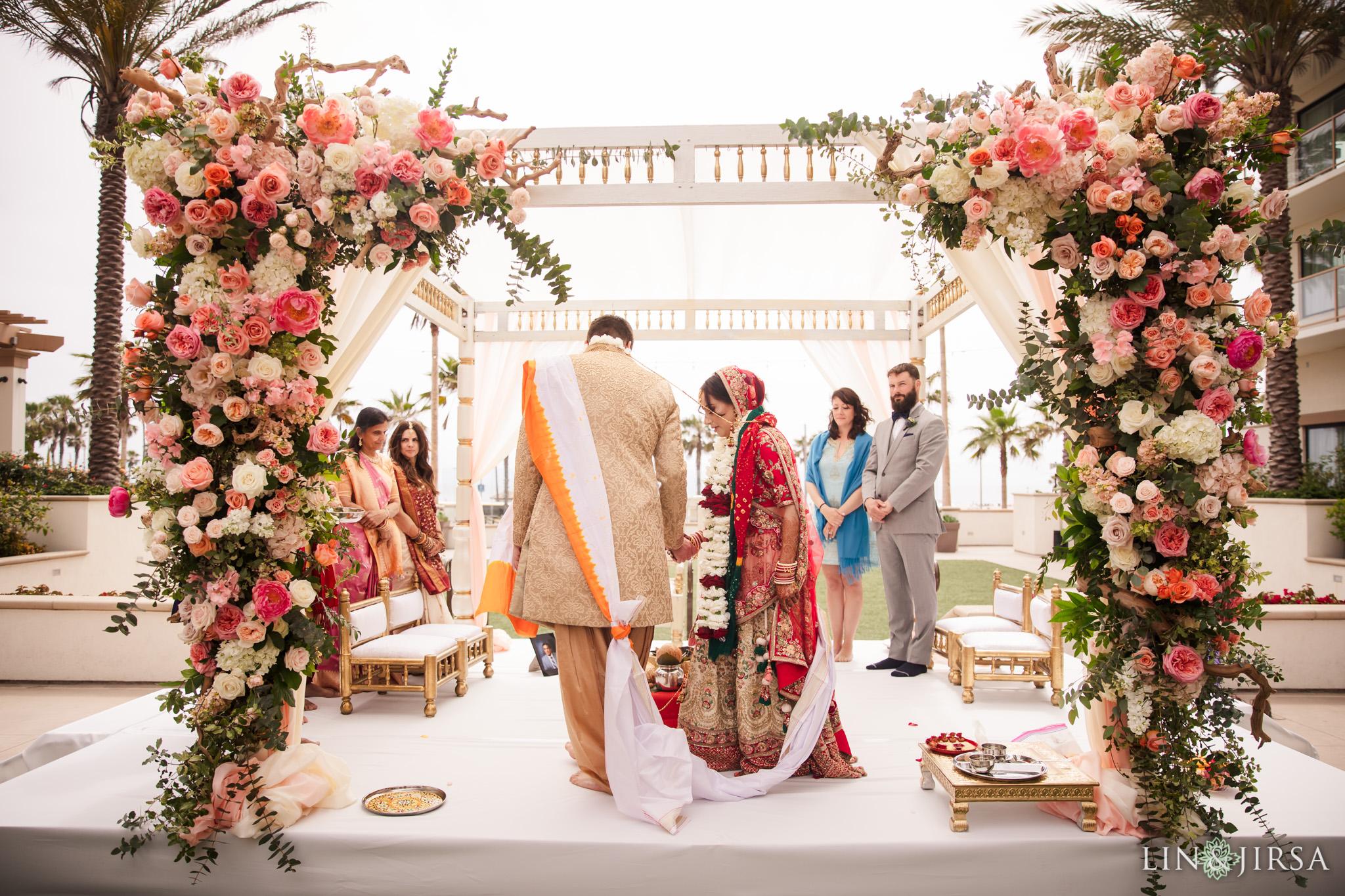 20 The Waterfront Beach Resort Orange County Indian Wedding Photography