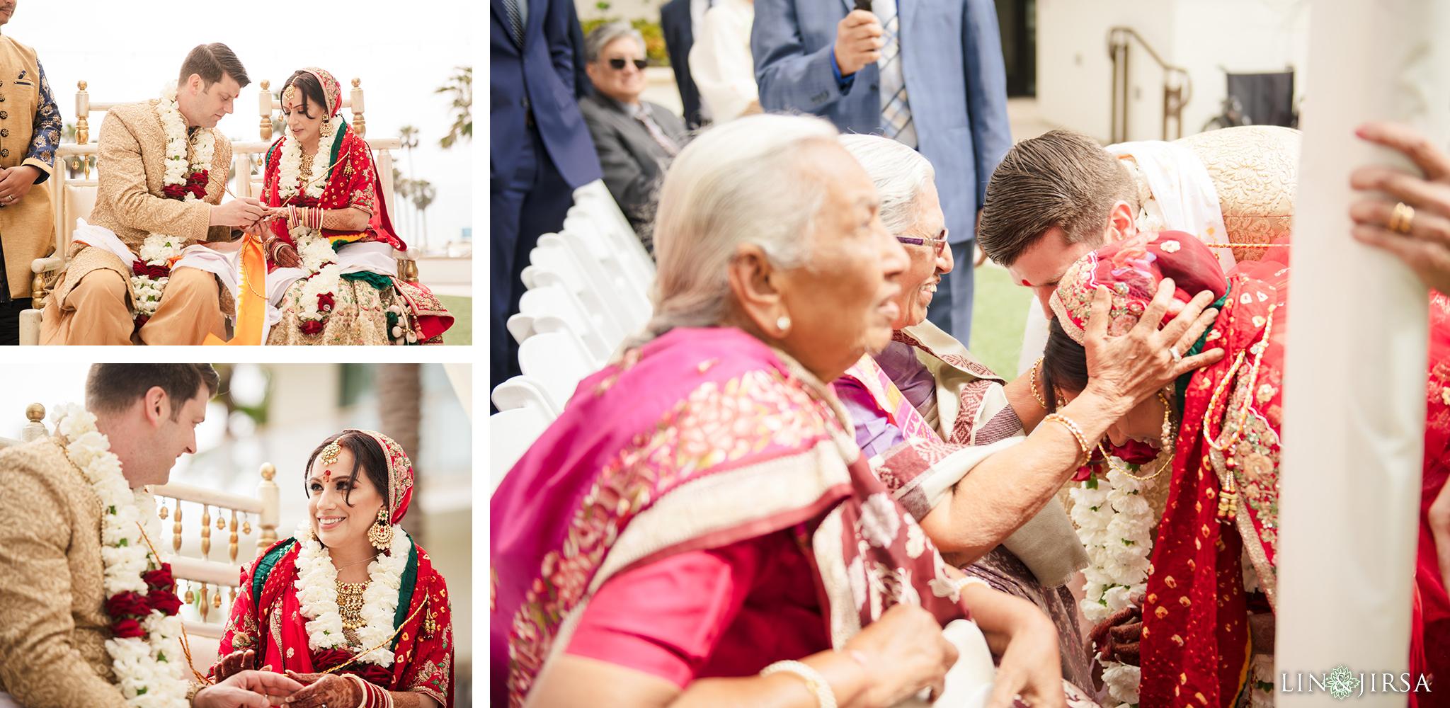 22 The Waterfront Beach Resort Orange County Indian Wedding Photography