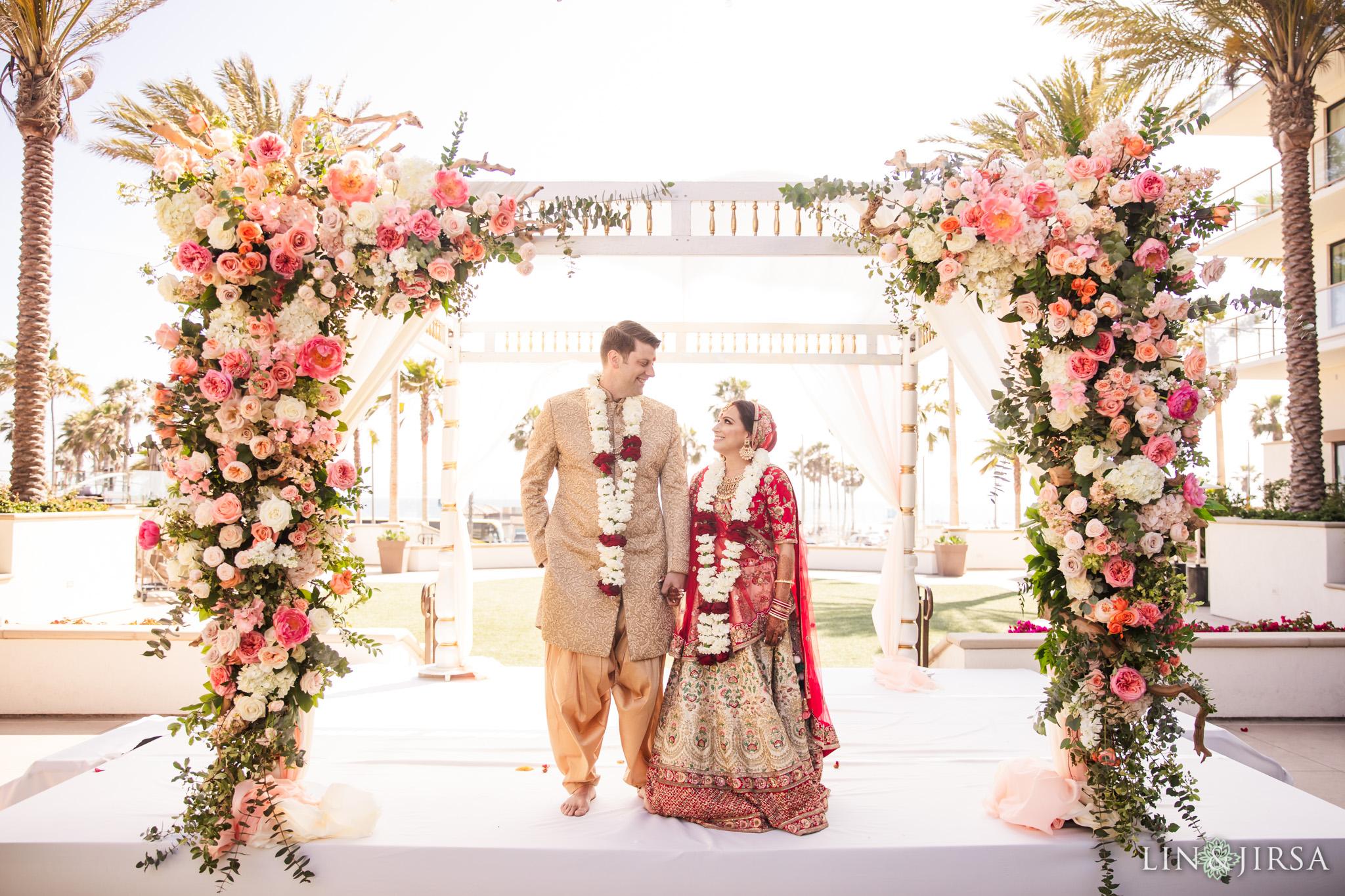 23 The Waterfront Beach Resort Orange County Indian Wedding Photography