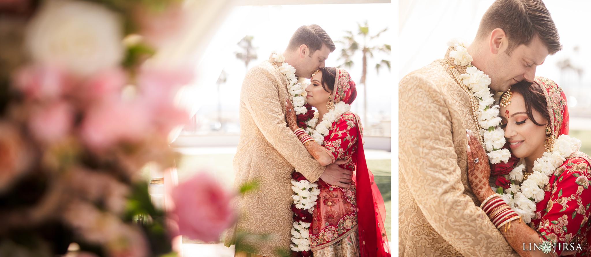 24 The Waterfront Beach Resort Orange County Indian Wedding Photography