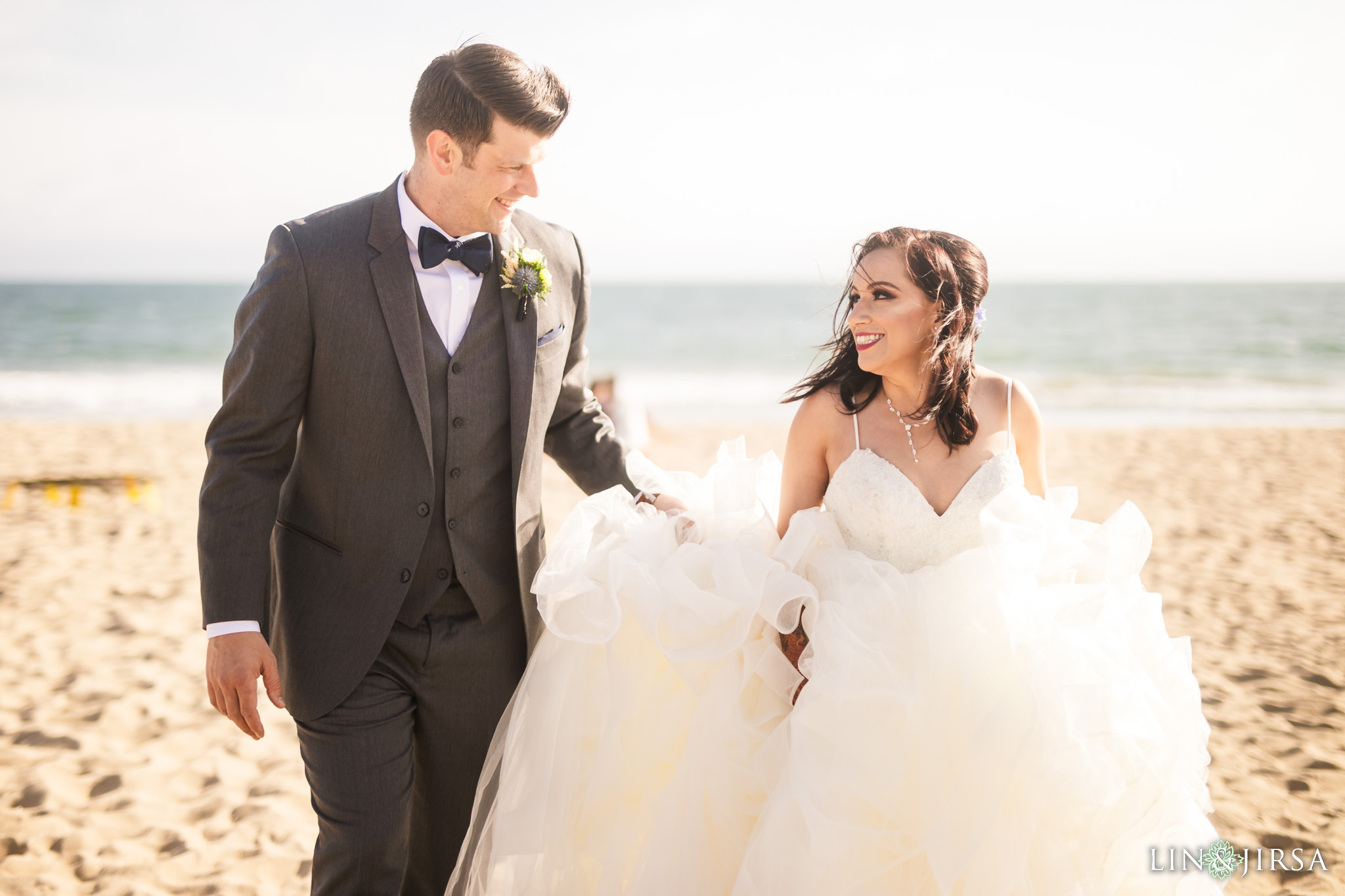 26 The Waterfront Beach Resort Orange County Indian Wedding Photography