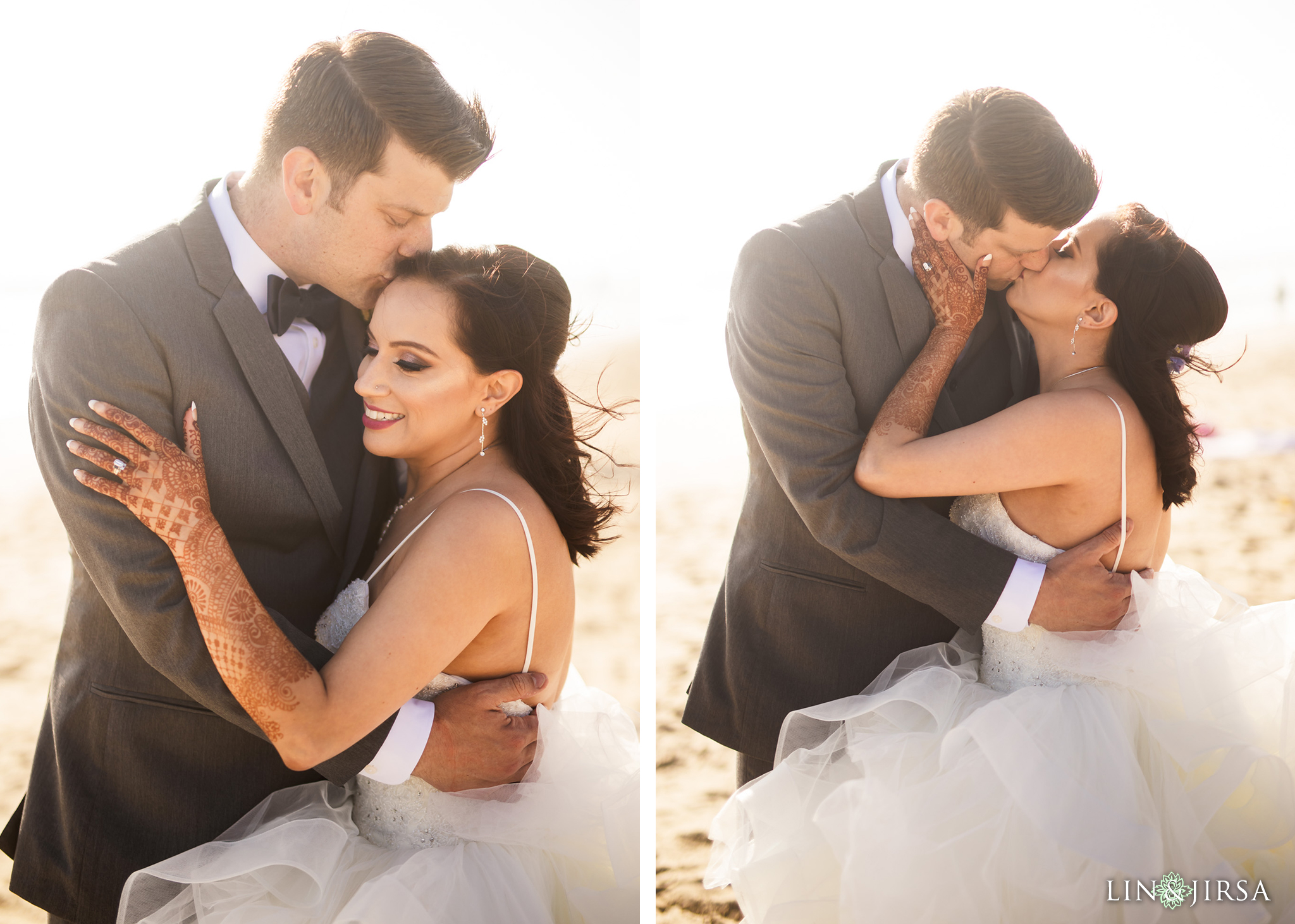 27 The Waterfront Beach Resort Orange County Indian Wedding Photography