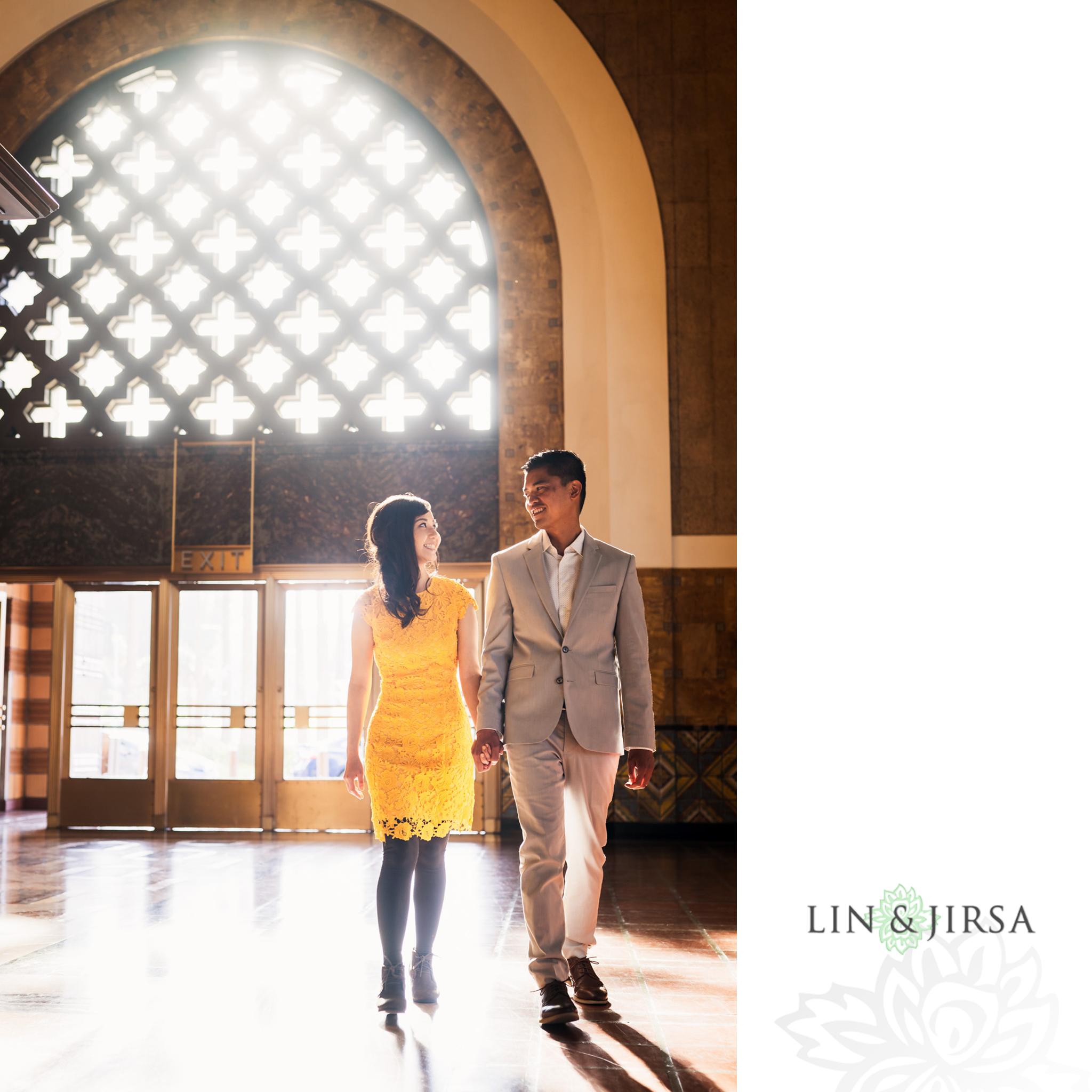 02 Union Station Los Angeles Engagement Photography