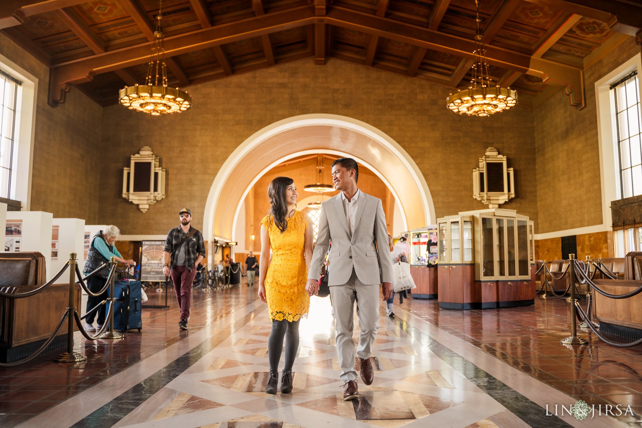 03 Union Station Los Angeles Engagement Photography