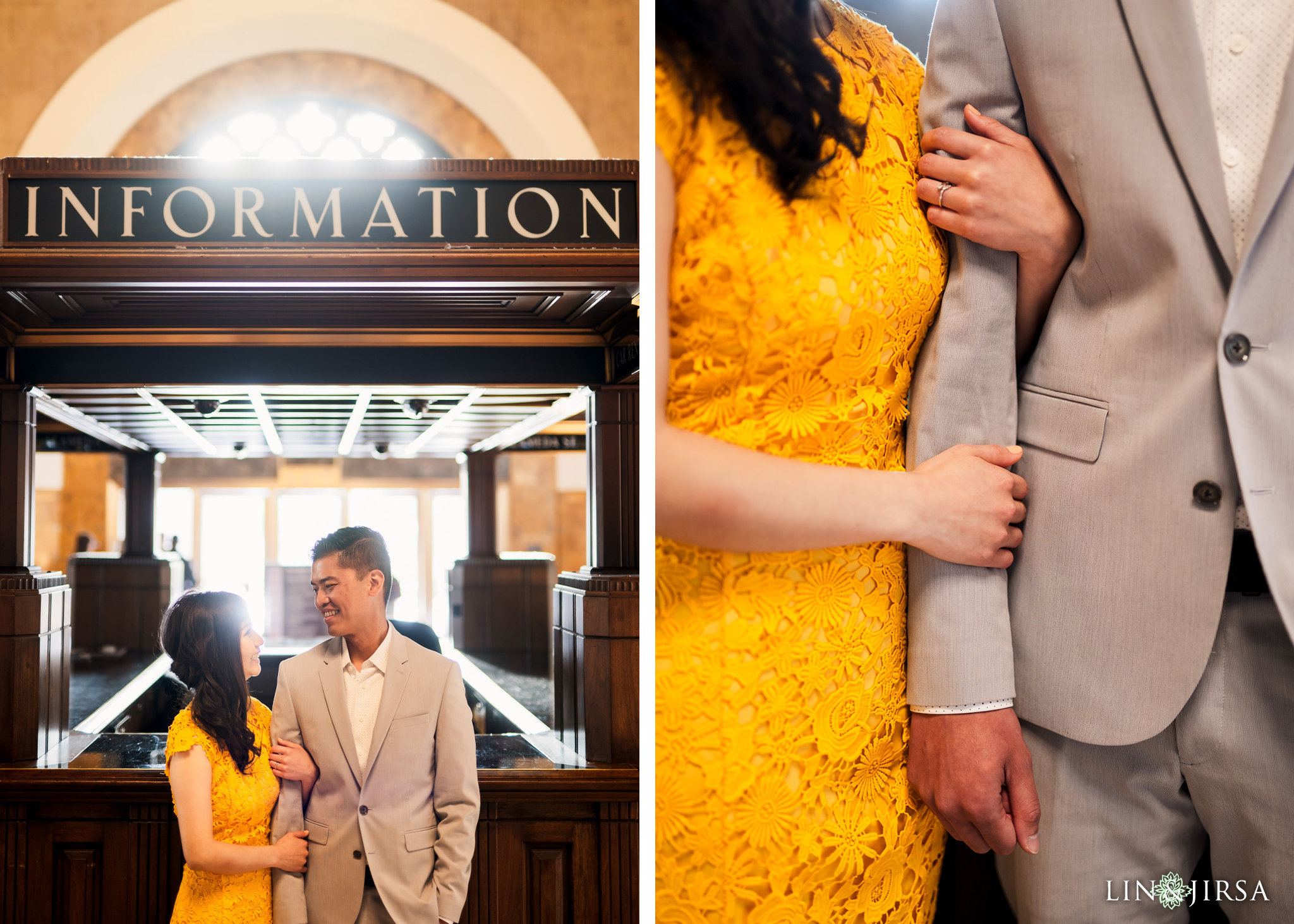 04 Union Station Los Angeles Engagement Photography