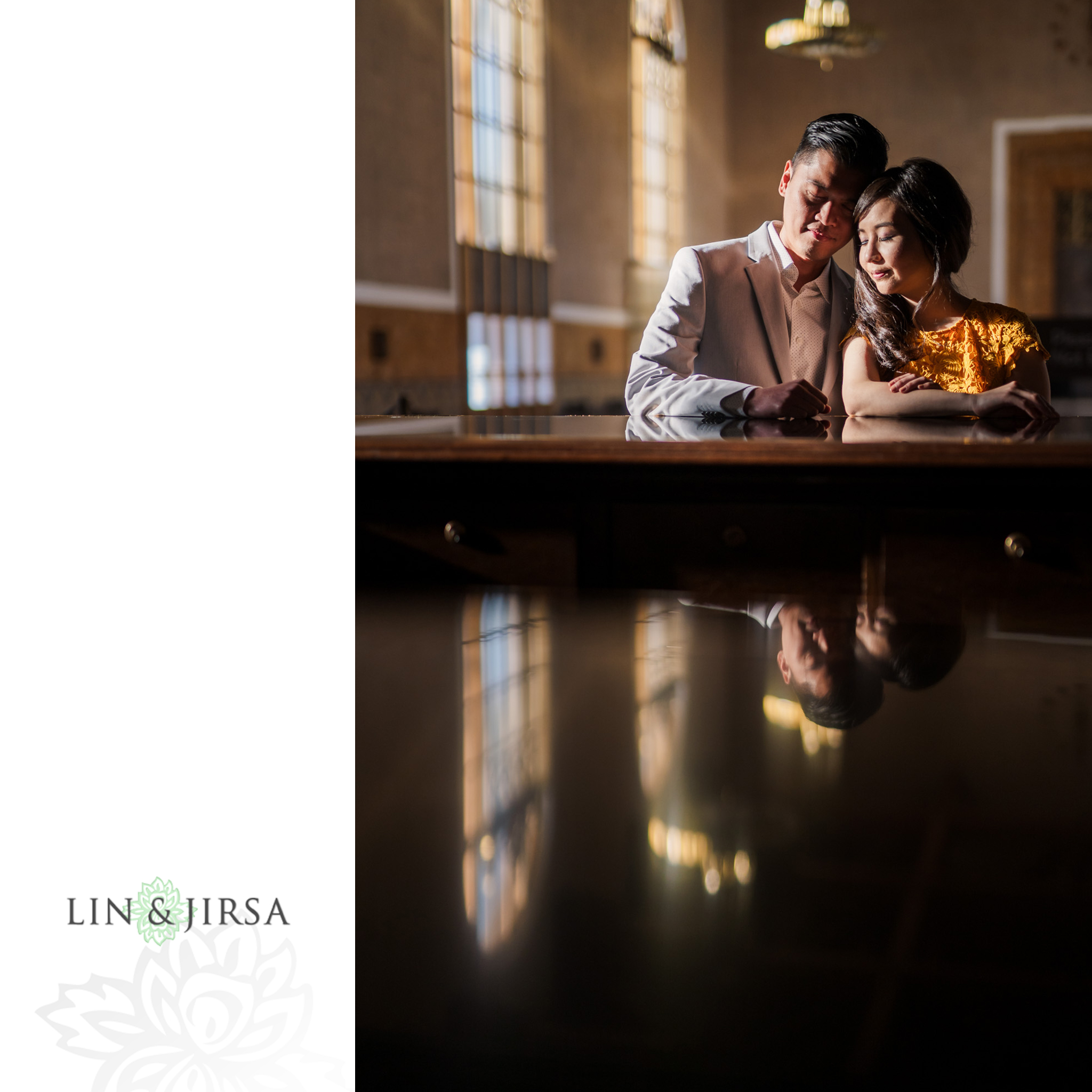 08 Union Station Los Angeles Engagement Photography