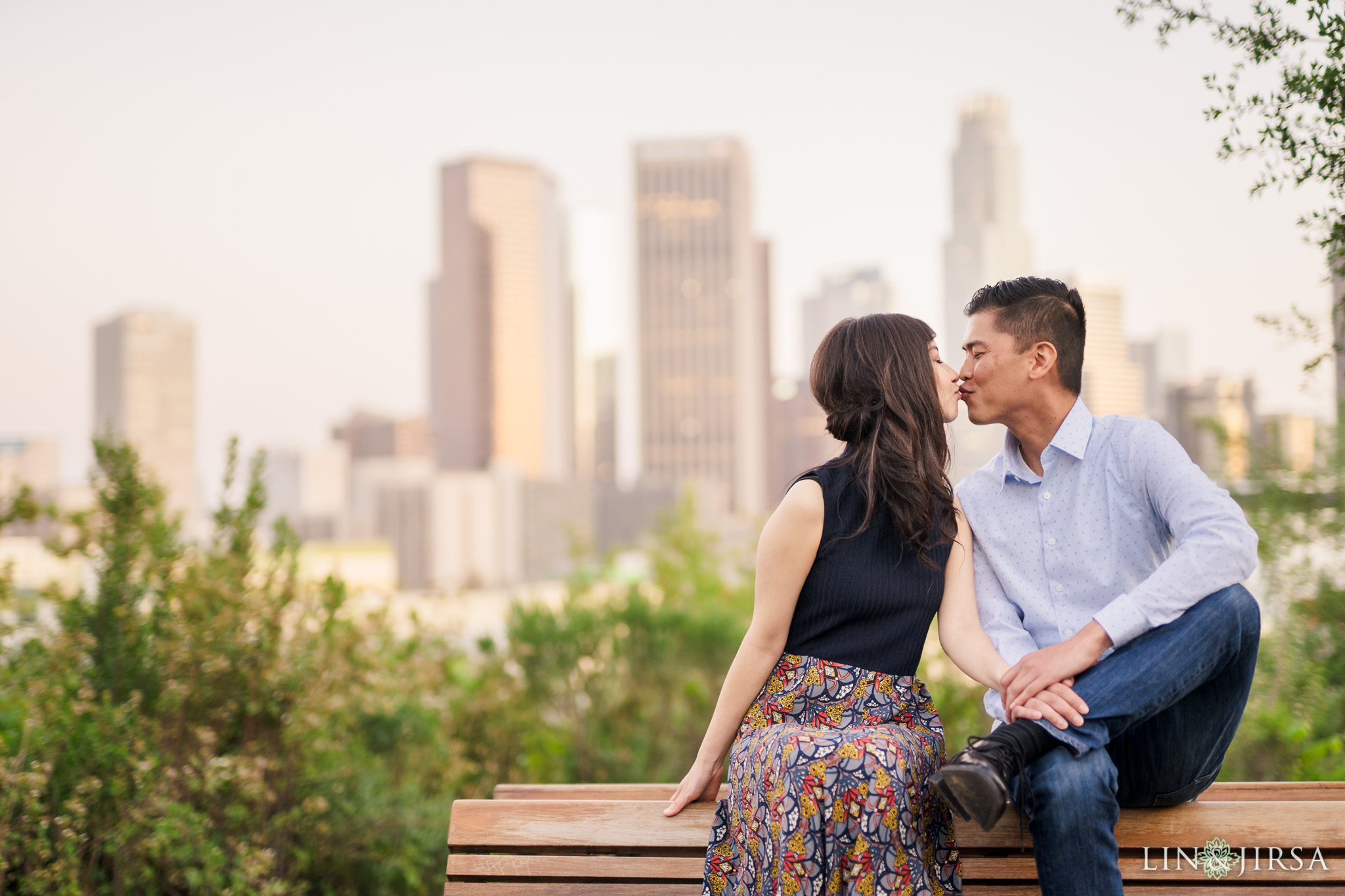 13 Vista Hermosa Natural Park Los Angeles Engagement Photography