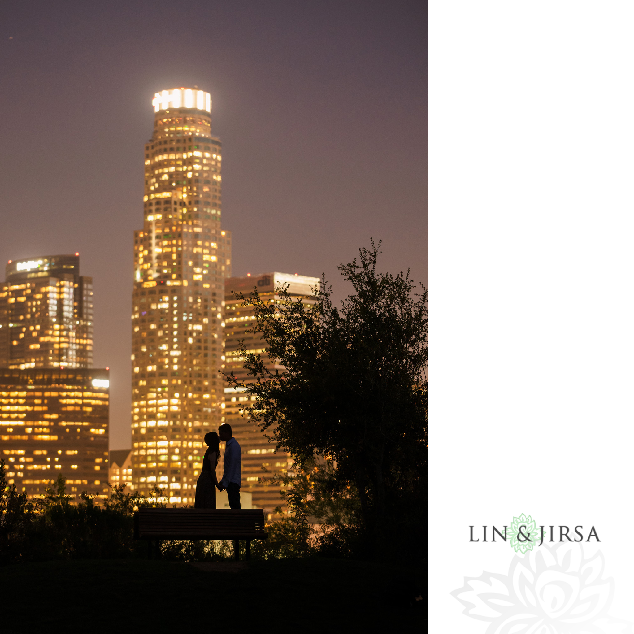 15 Vista Hermosa Natural Park Los Angeles Engagement City Lights Night Photography