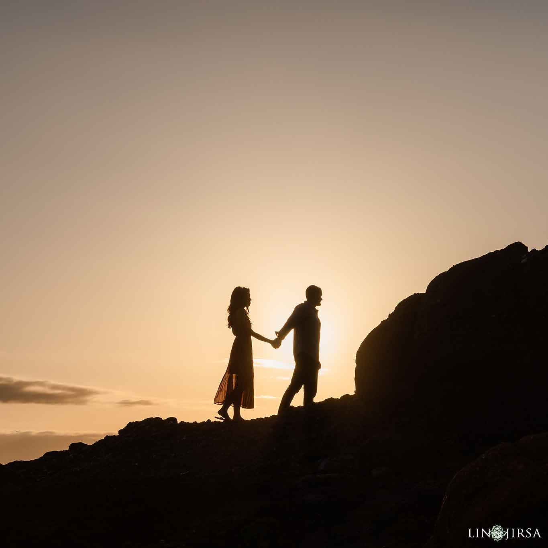 18 Laguna Beach Silhouette Engagement Photographer