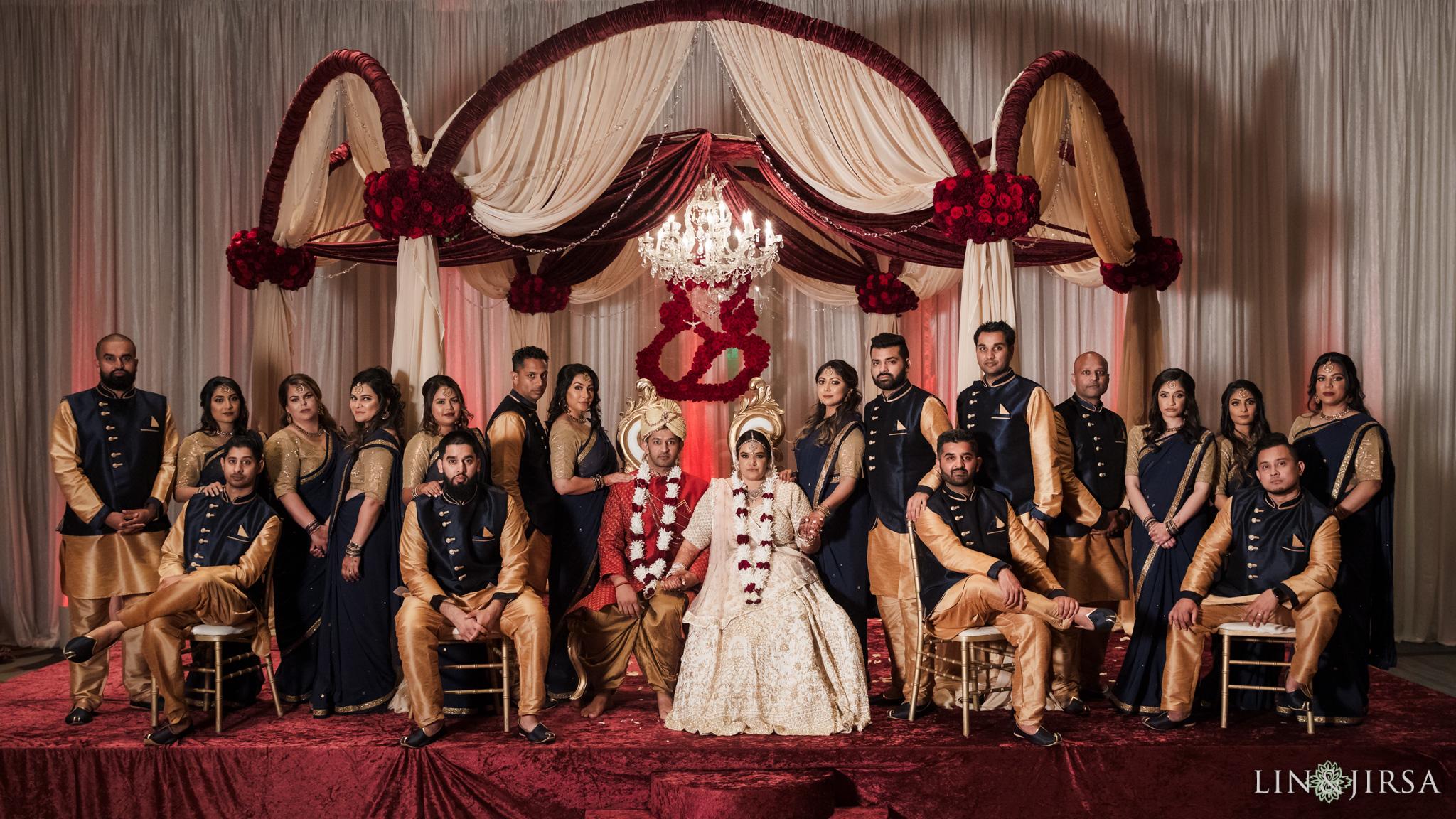 28 Hyatt Regency Orange County Indian Wedding Party Photography
