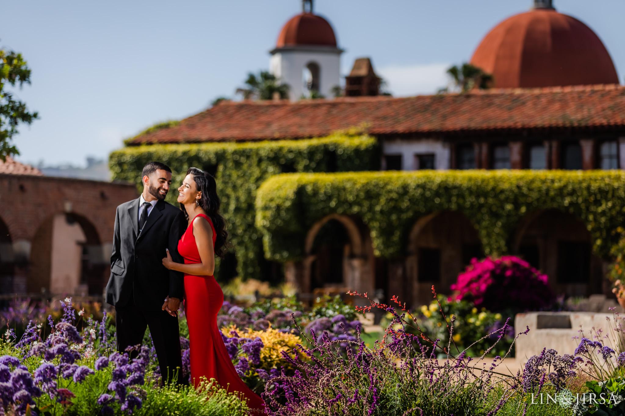 zbf Mission San Juan Capistrano Engagement Photography