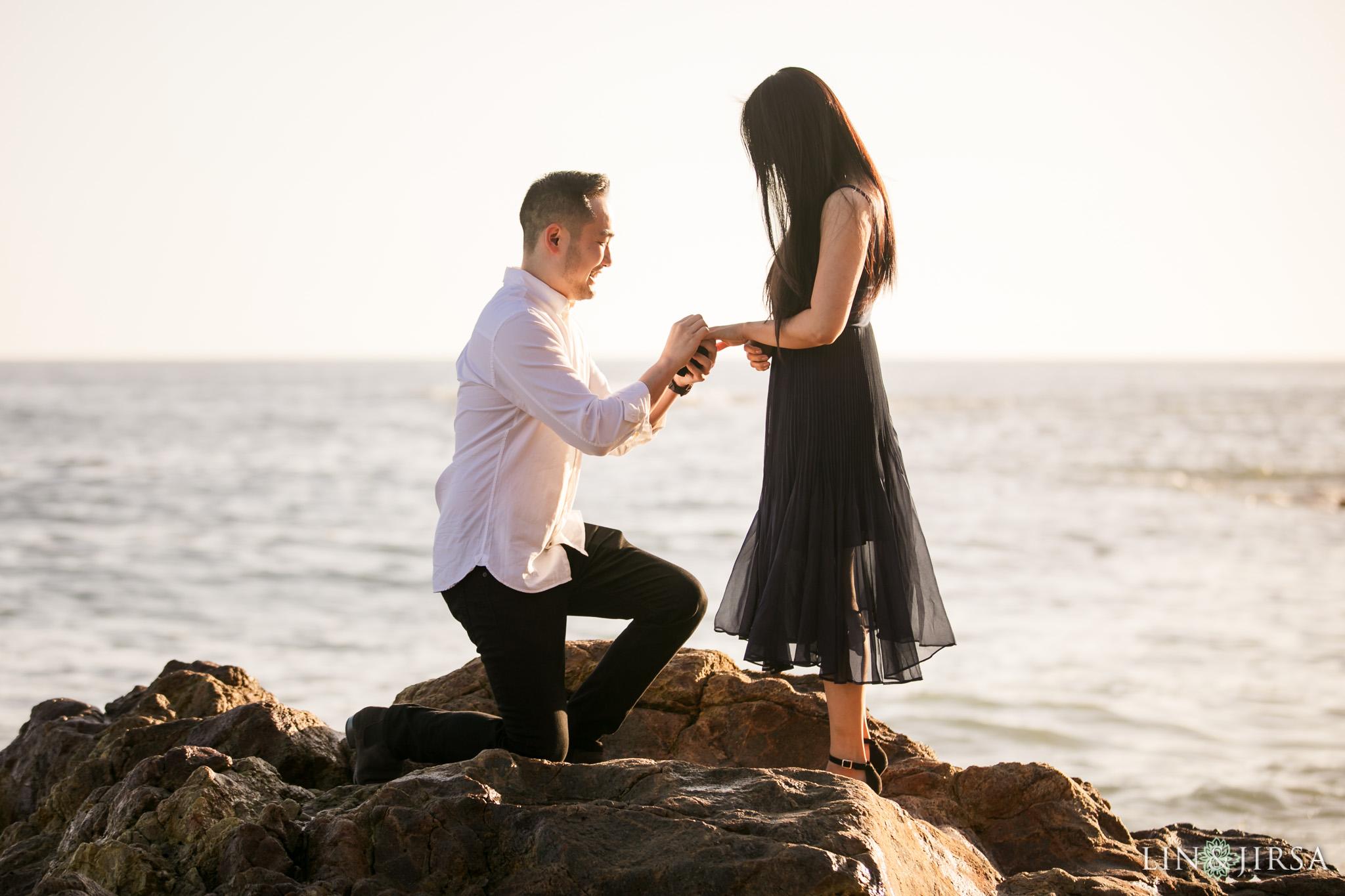 02 Heisler Beach Orange County Proposal Engagement Photography