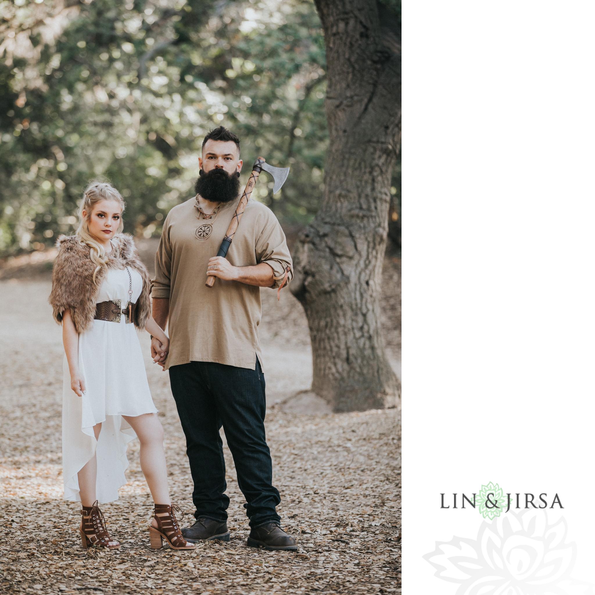 04 Viking Theme Orange County Game of Thrones Engagement Photography