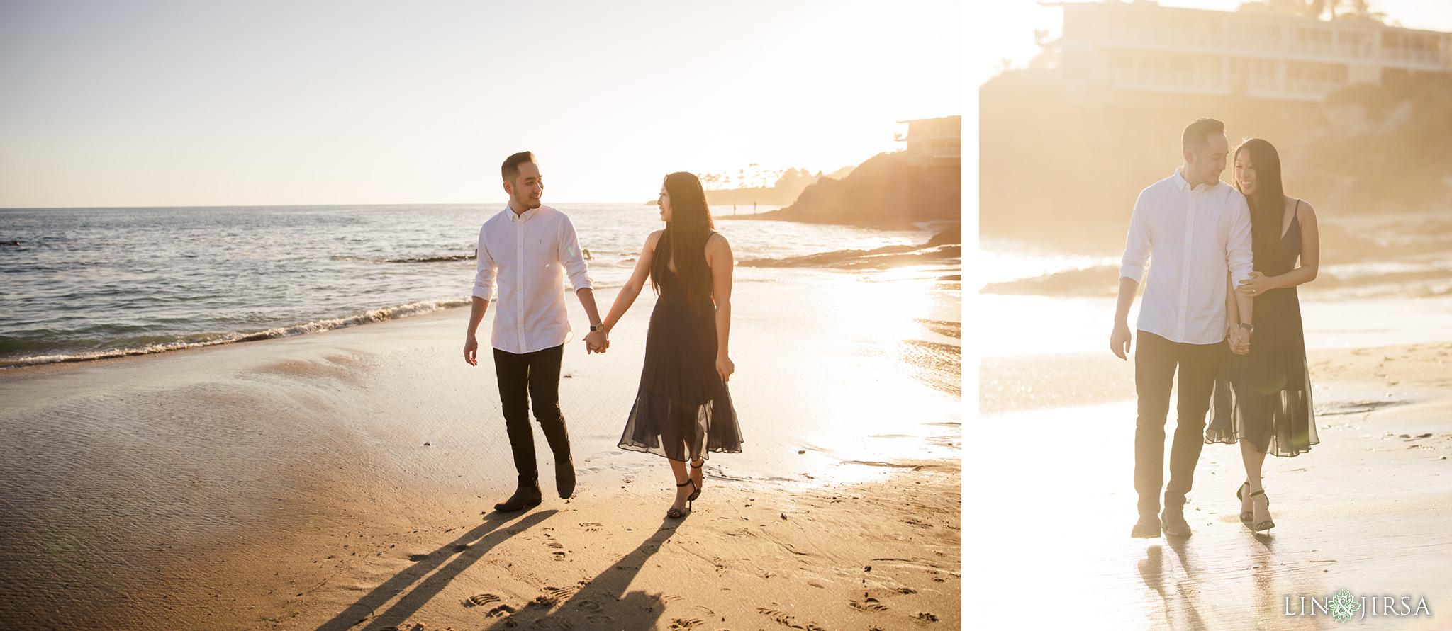 05 Heisler Beach Orange County Proposal Engagement Photography