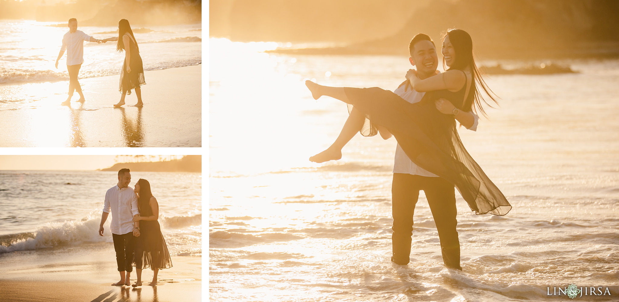 06 Heisler Beach Orange County Proposal Engagement Photography