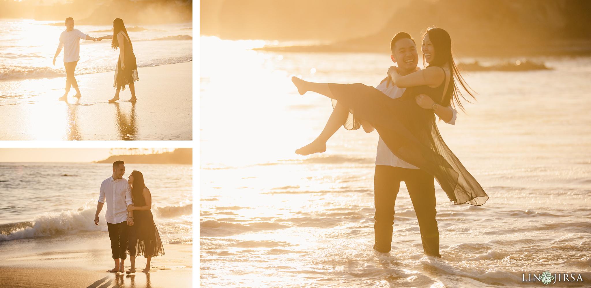 06 Heisler Beach Orange County Proposal Engagement Photography