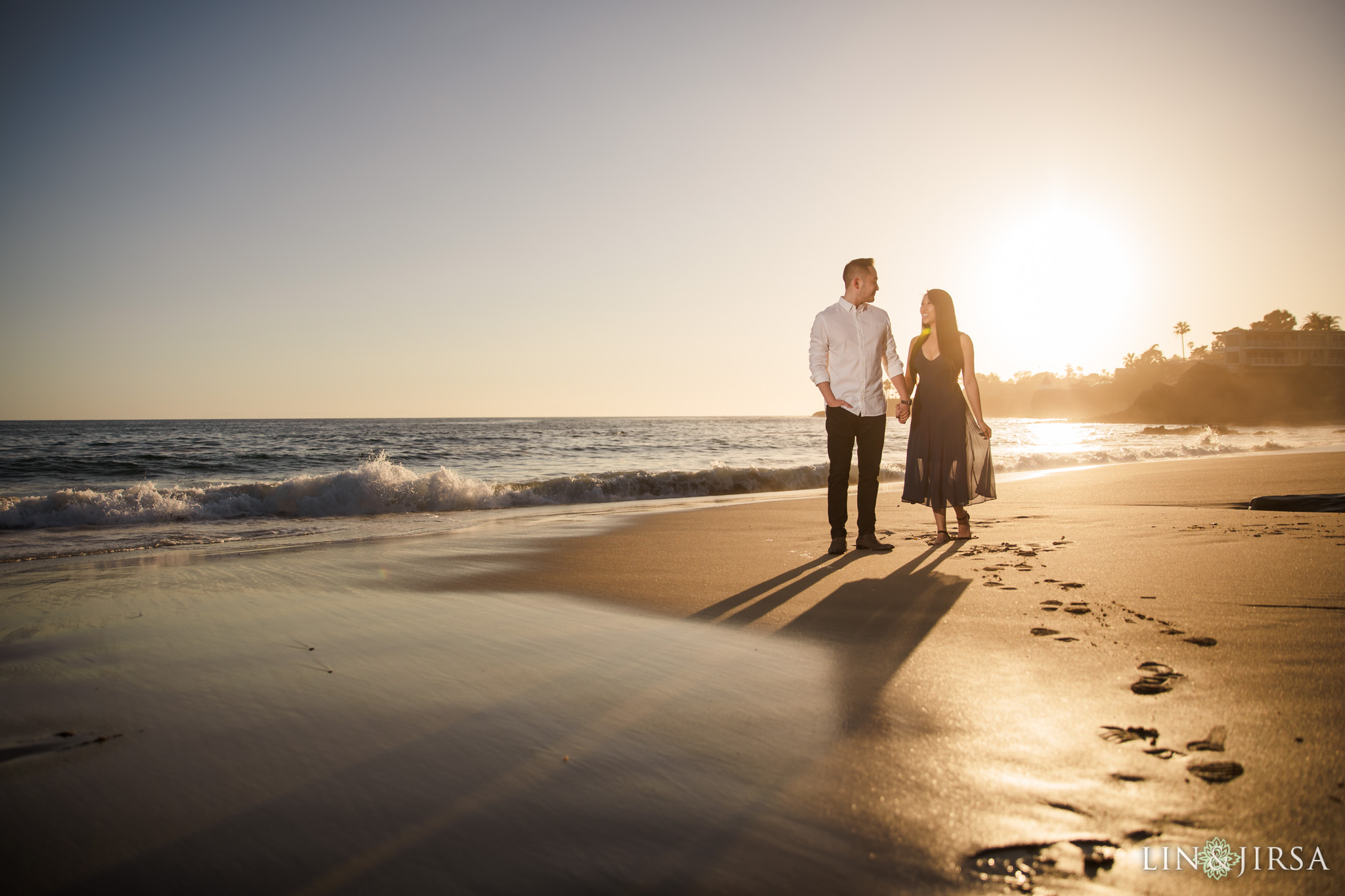 07 Heisler Beach Orange County Proposal Engagement Photography