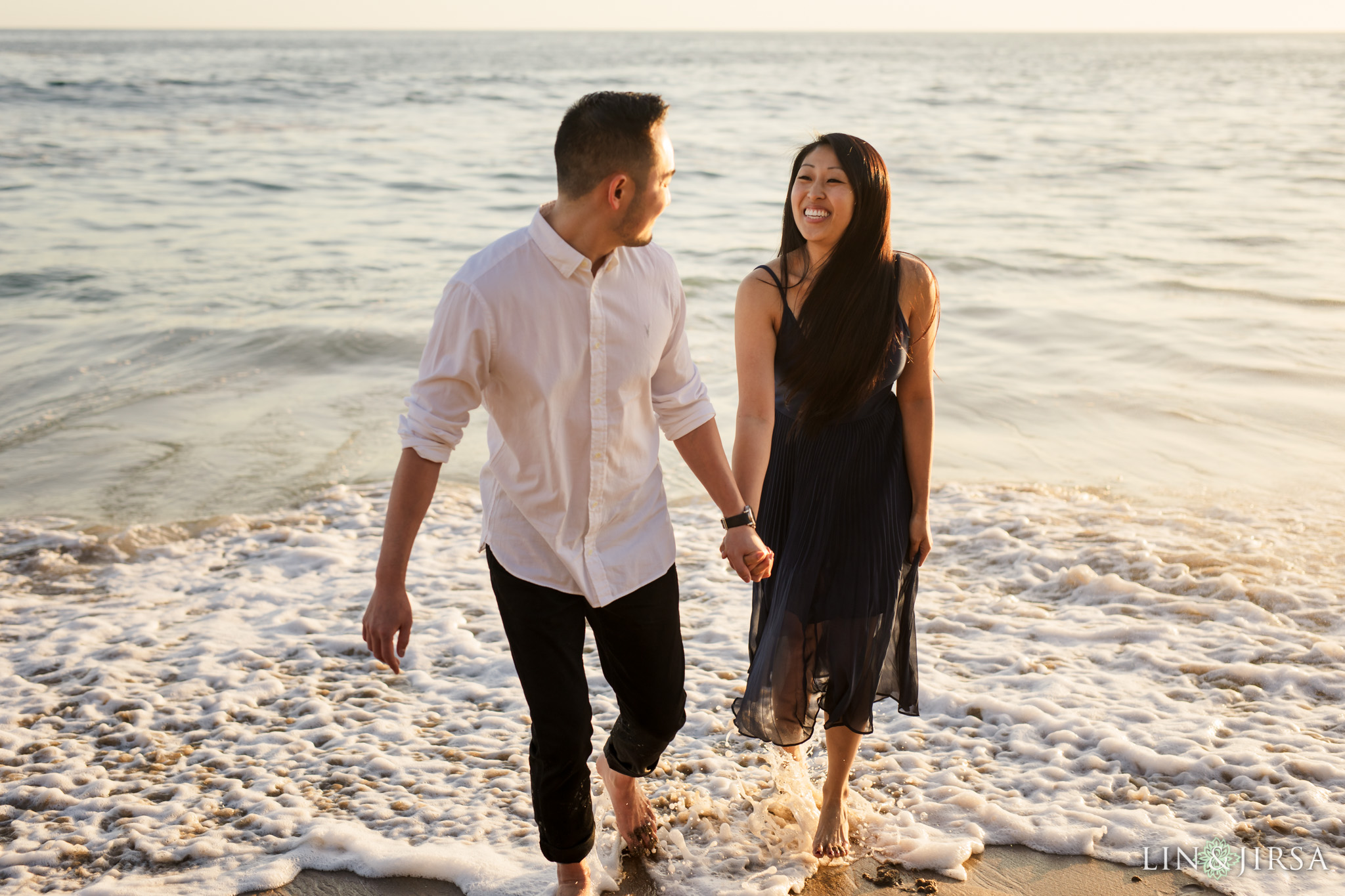 08 Heisler Beach Orange County Proposal Engagement Photography