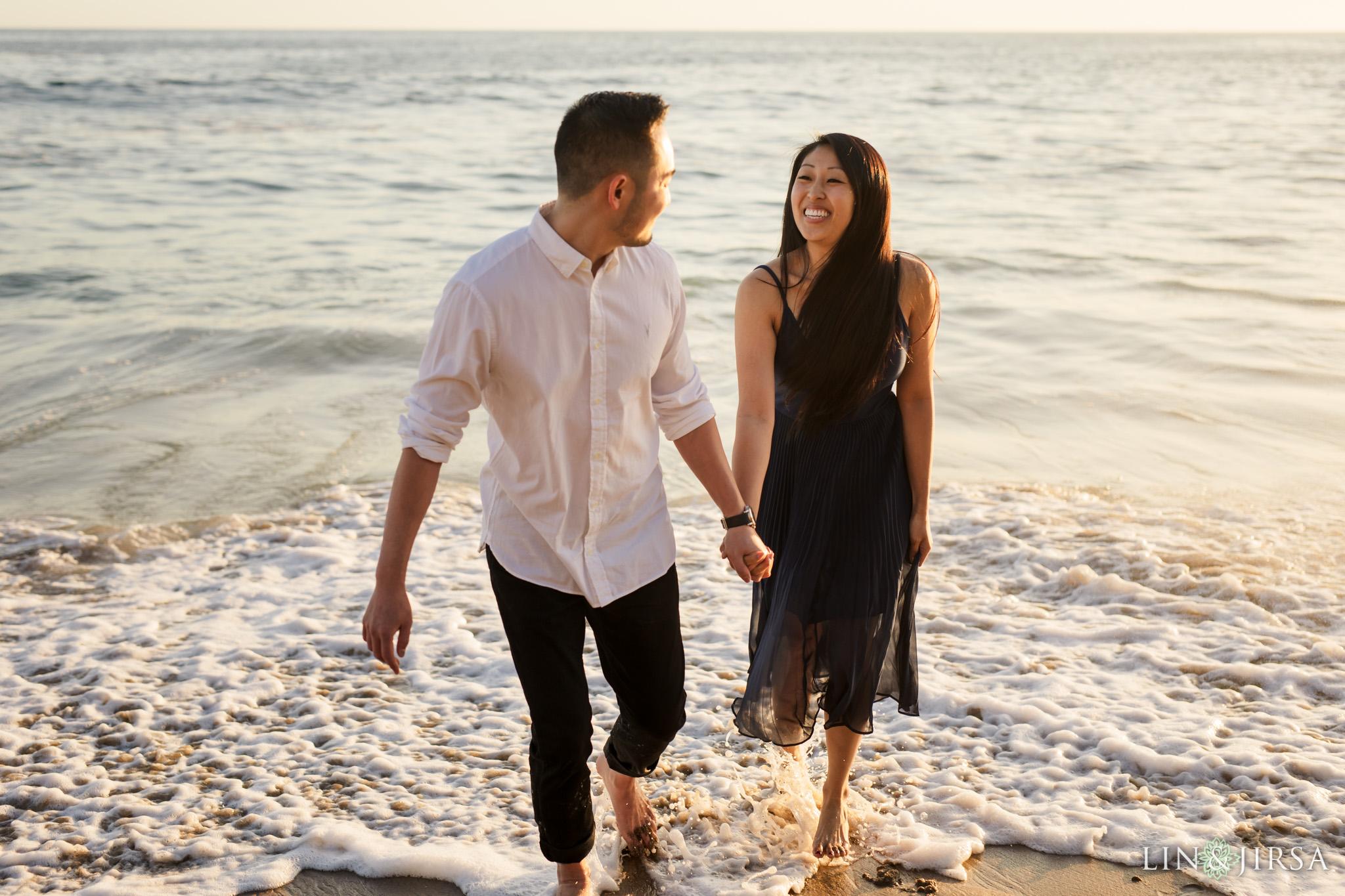 08 Heisler Beach Orange County Proposal Engagement Photography
