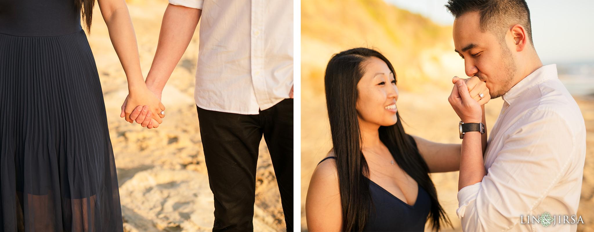 09 Heisler Beach Orange County Proposal Engagement Photography