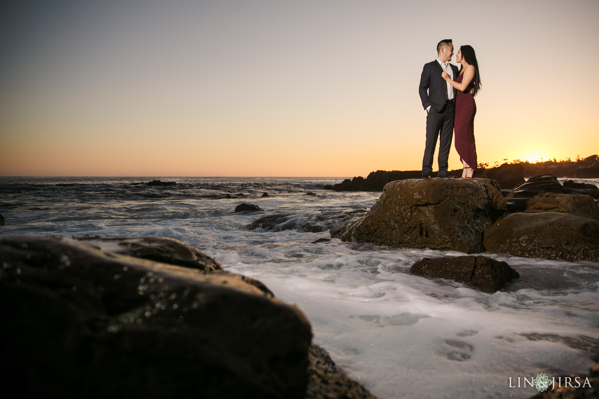 10 Heisler Beach Orange County Proposal Engagement Photography