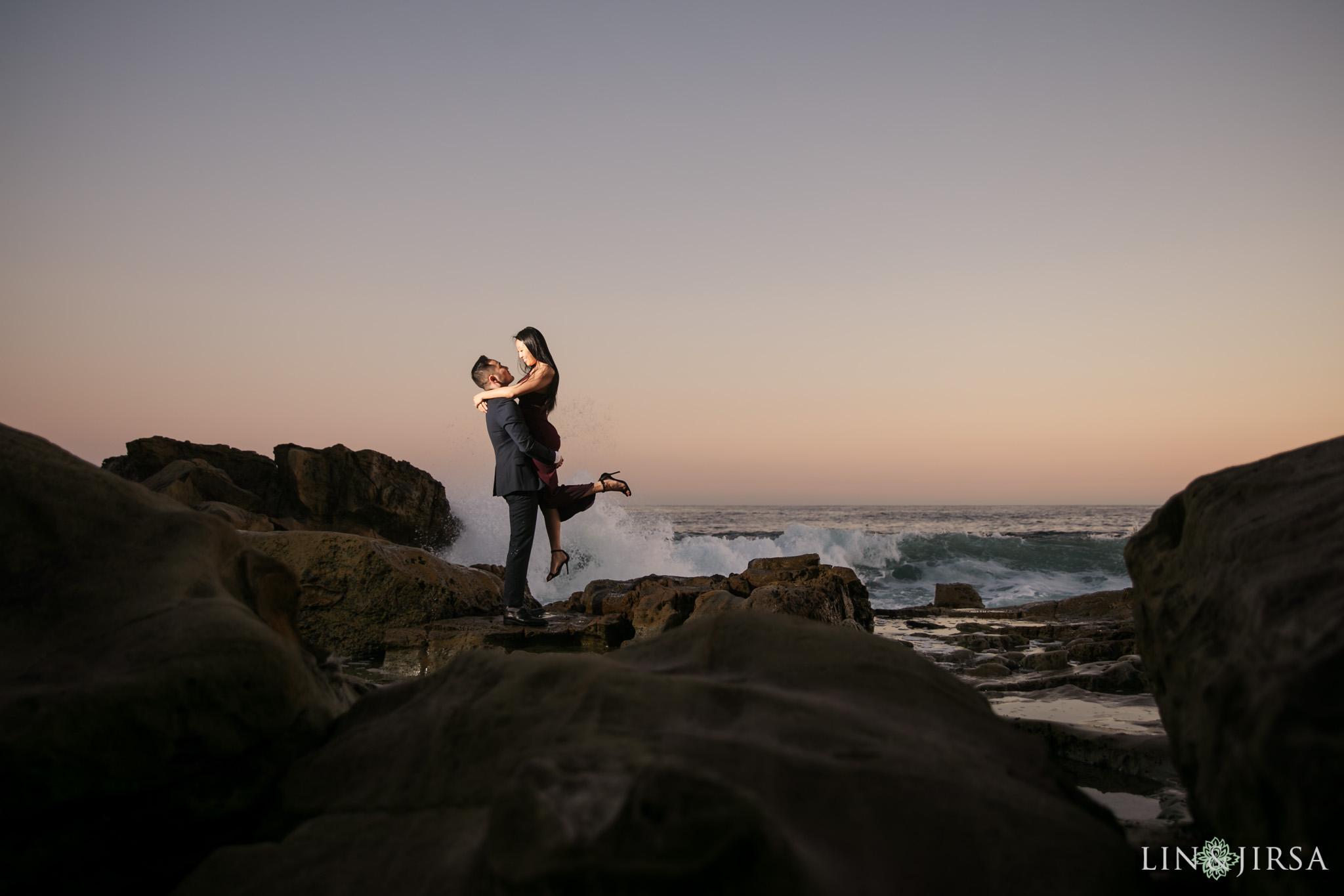 11 Heisler Beach Orange County Proposal Engagement Photography