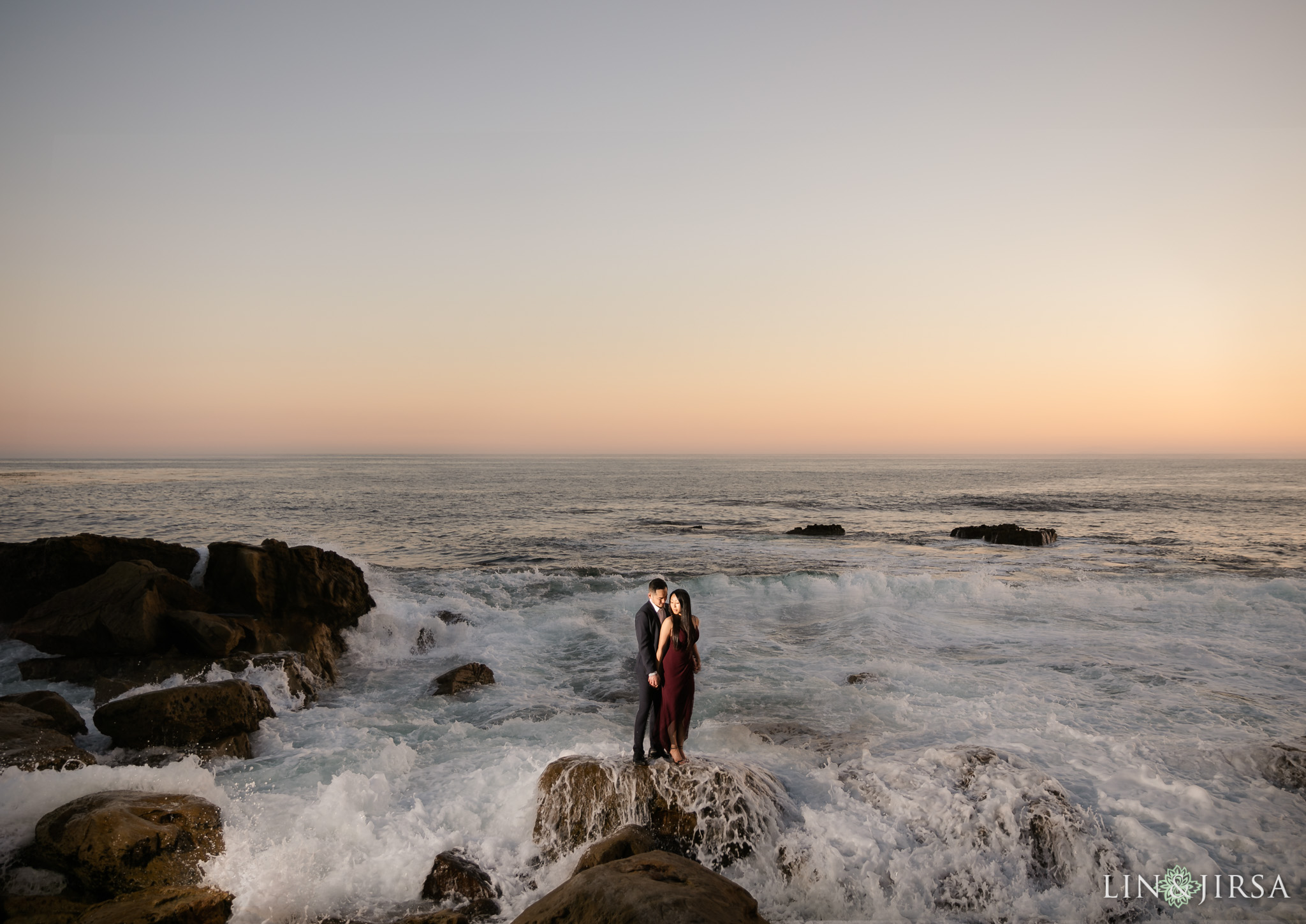 12 Heisler Beach Orange County Proposal Engagement Photography