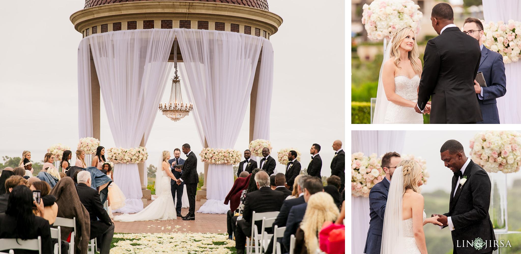 14 Pelican Hill Resort Orange County Rainy Wedding Ceremony Photographer
