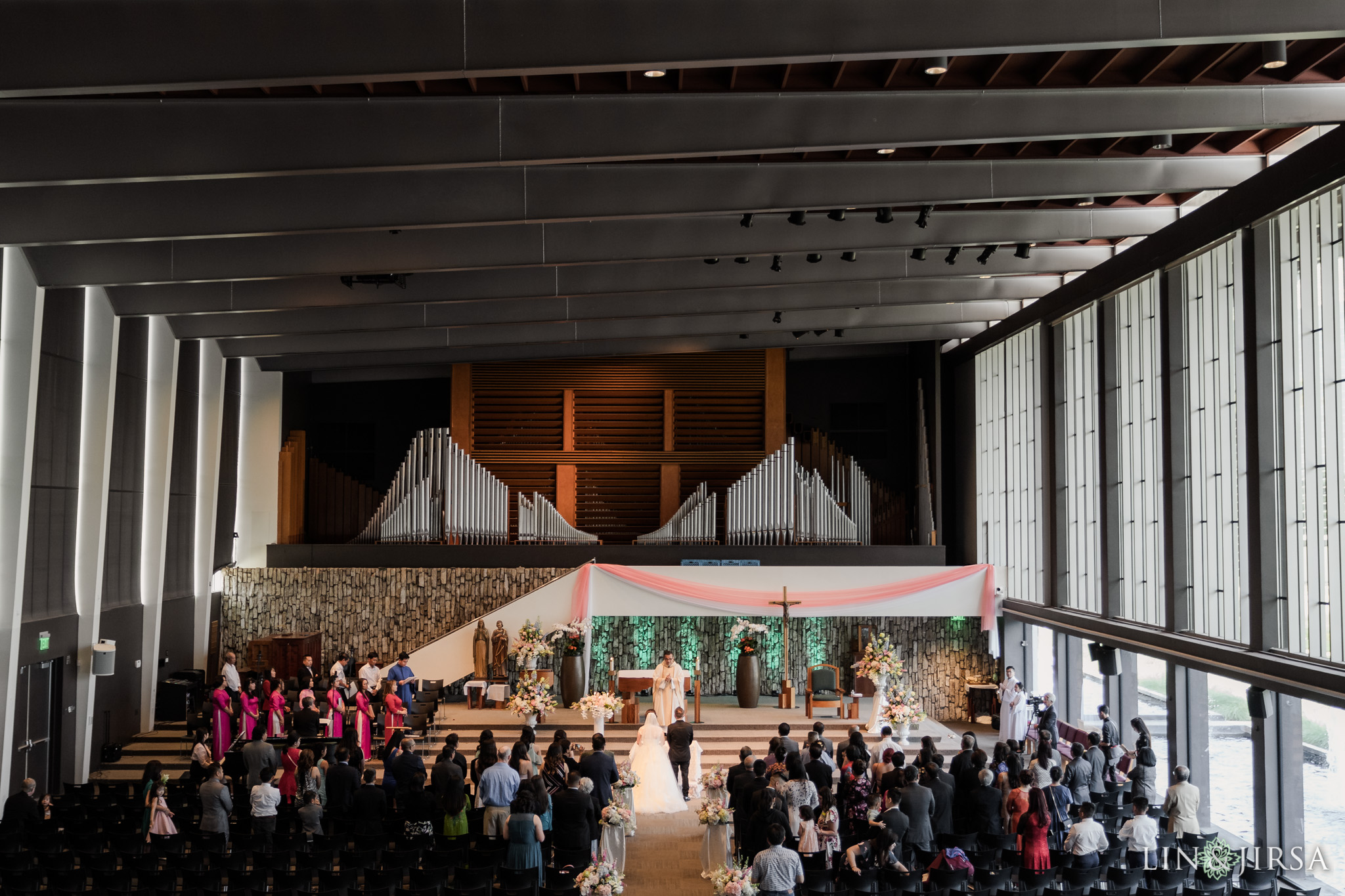 16 Christ Cathedral Garden Grove Wedding Ceremony Photography