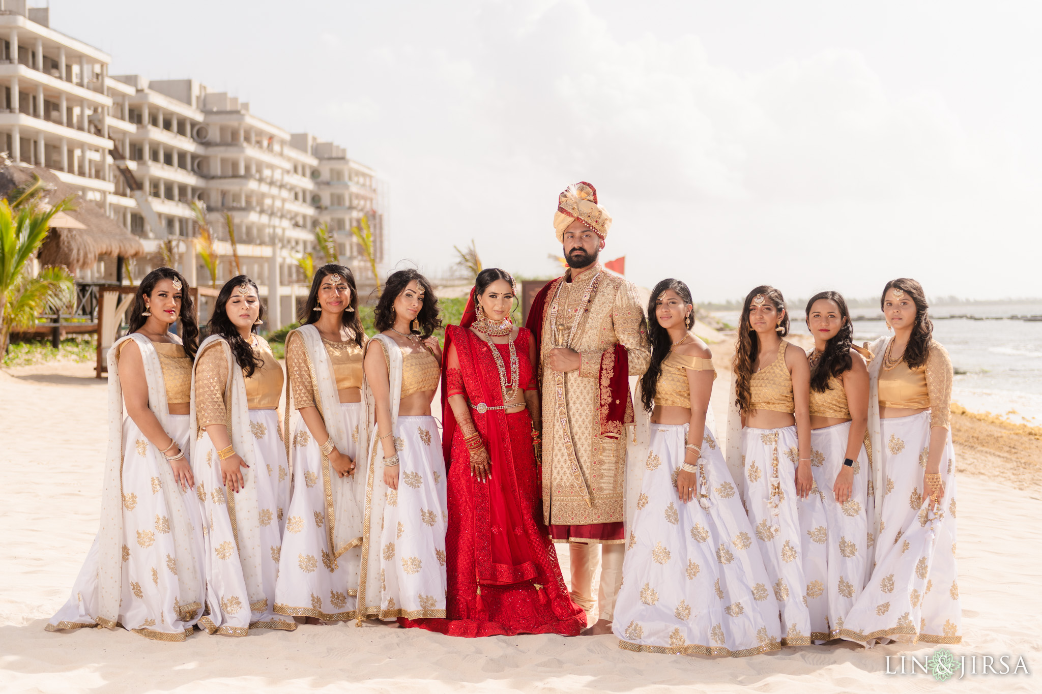 17 Generations El Dorado Royale Cancun Mexico Indian Bridesmaids Wedding Photography