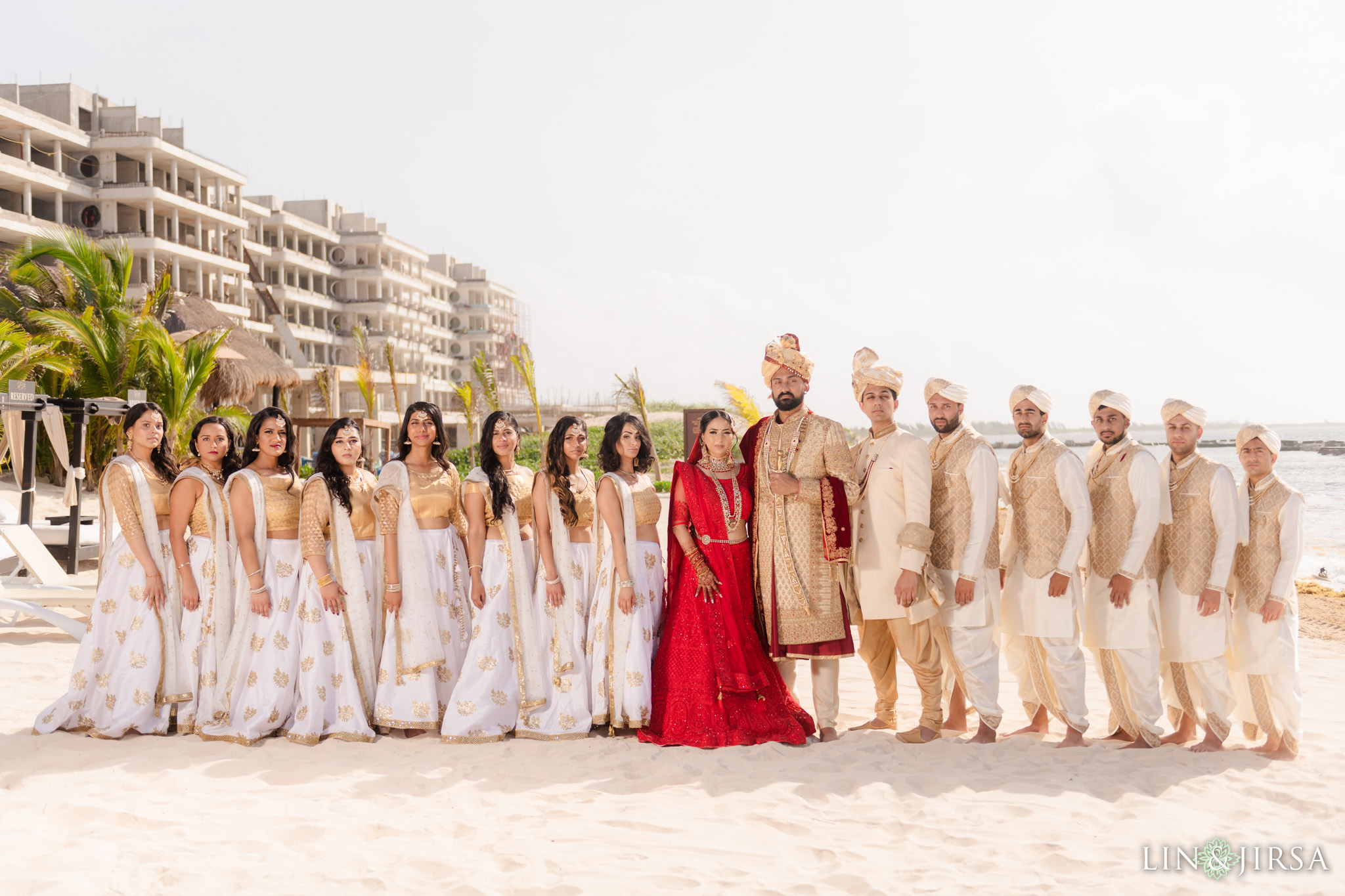 19 Generations El Dorado Royale Cancun Mexico Indian Wedding Party Photography