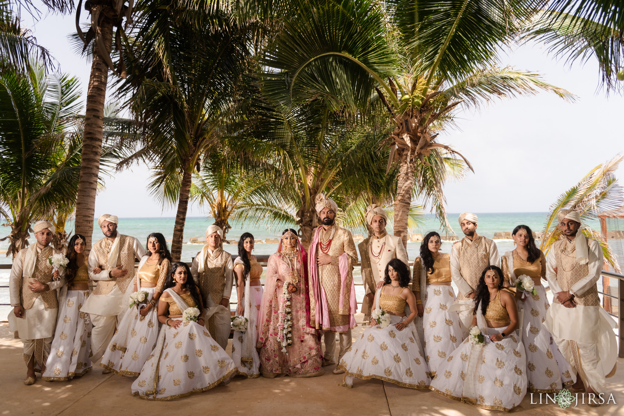 40 Generations Riviera Maya Cancun Mexico Indian Wedding Party Photography
