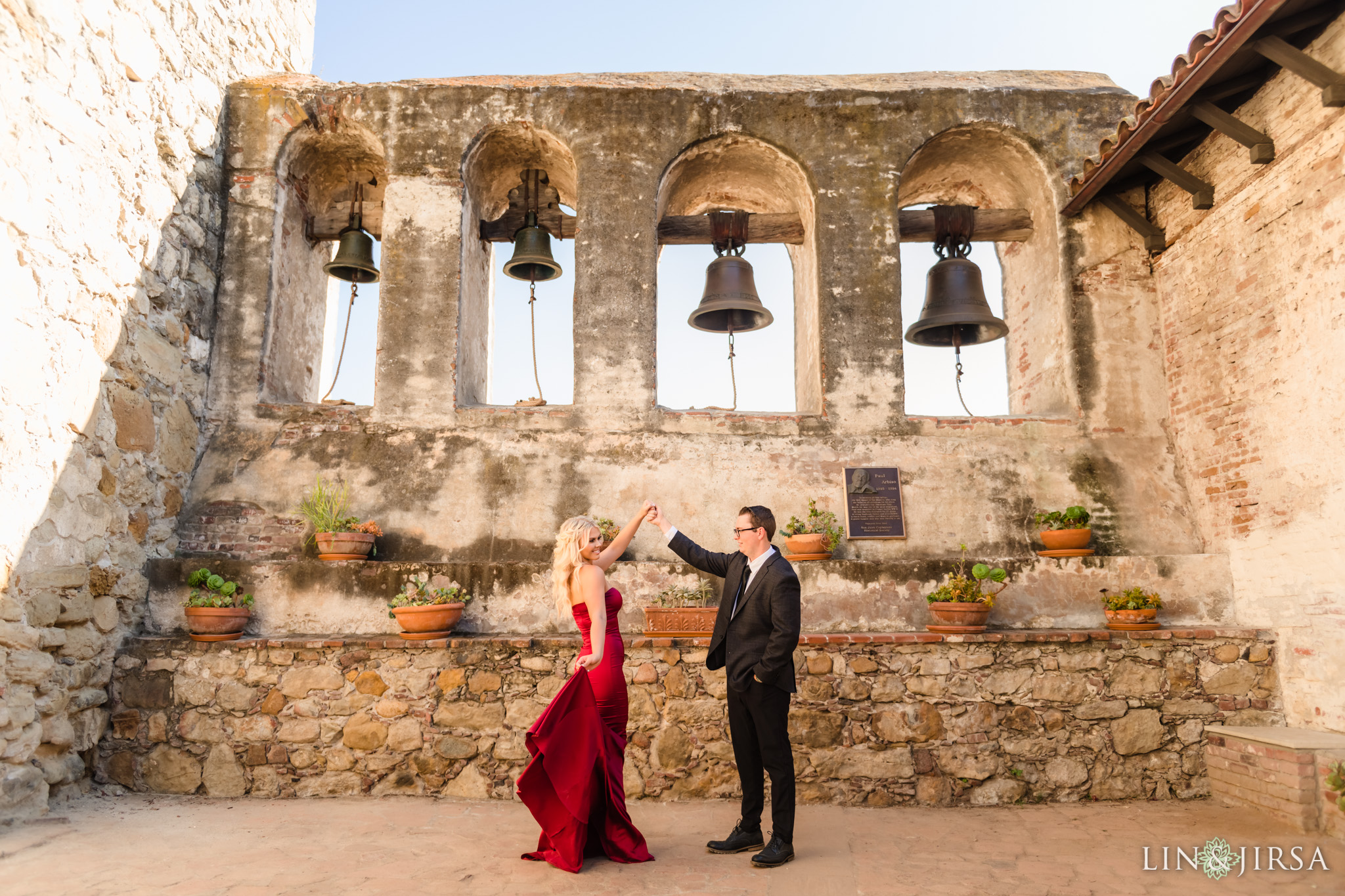 04 San Juan Capistrano Mission Engagement Photography