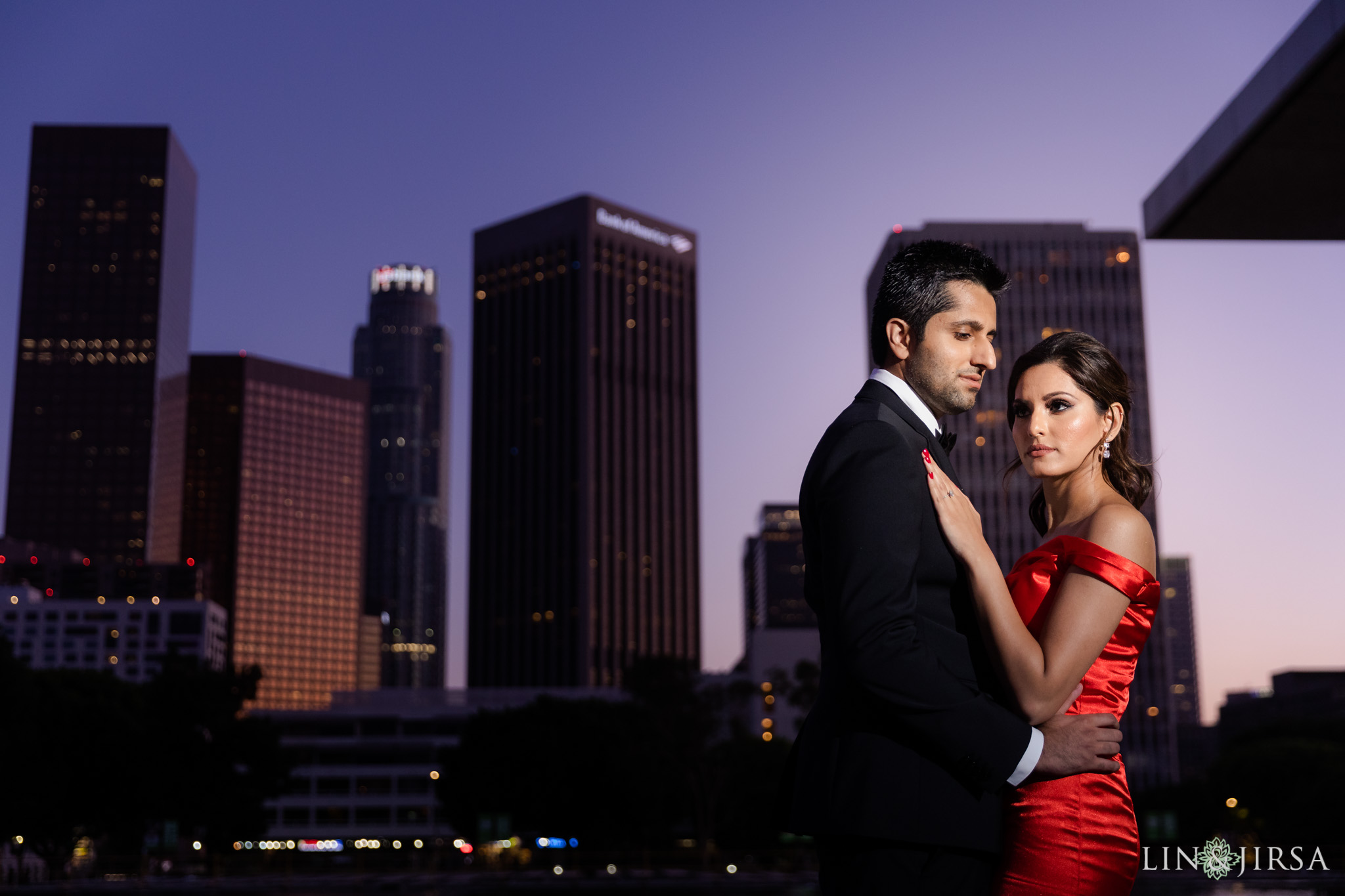 07 Downtown Los Angeles City Lights Engagement Photography