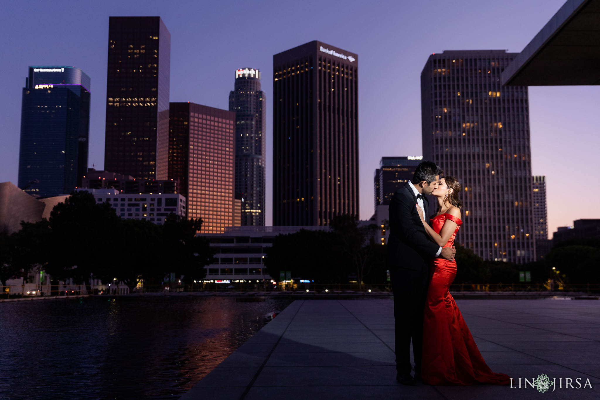 08 Downtown Los Angeles City Lights Engagement Photography