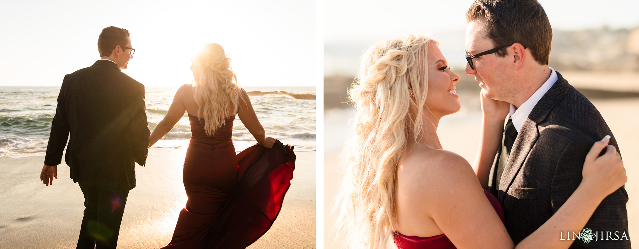 09 Orange County Sunset Beach Engagement Photography