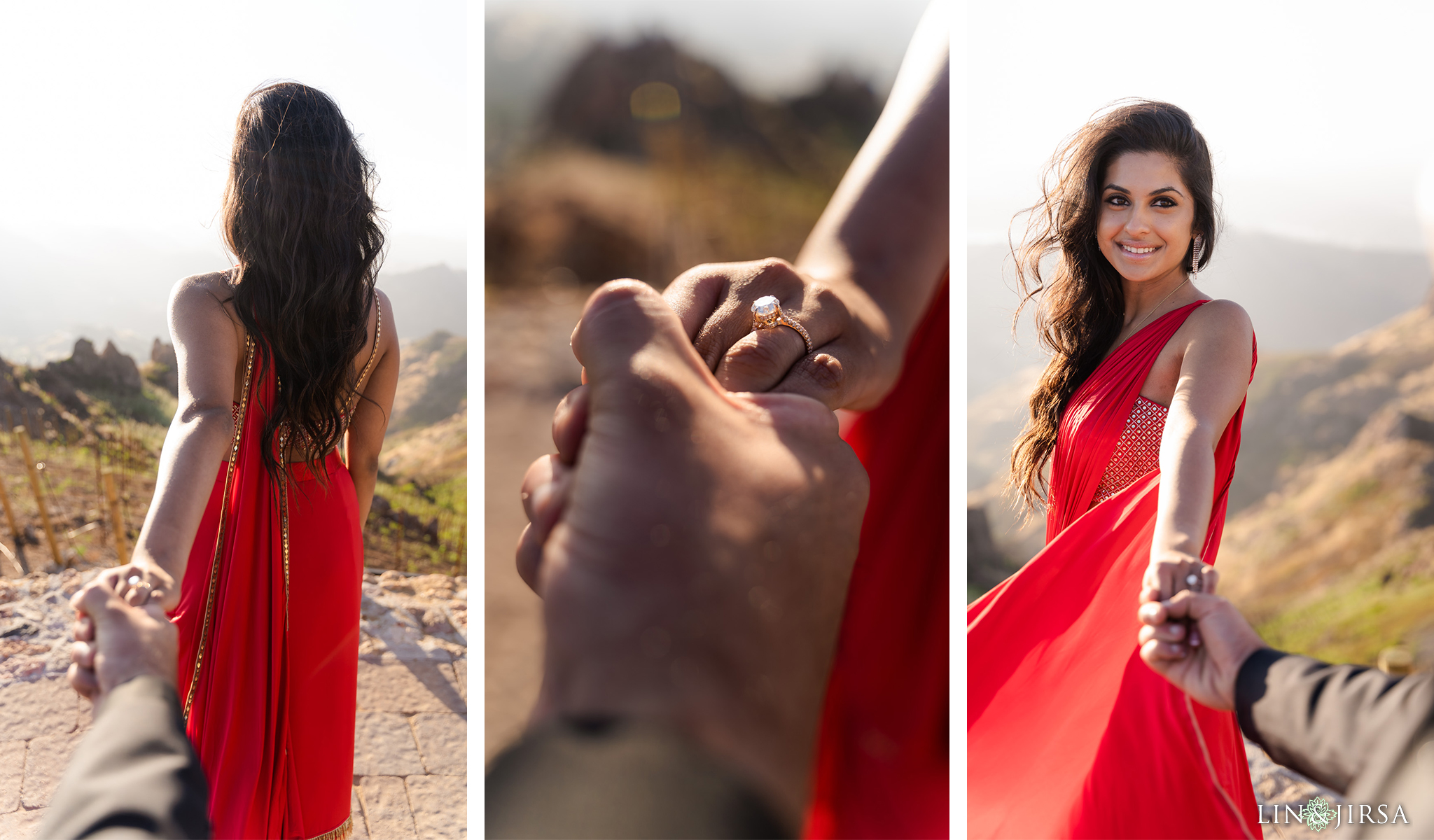 10 Malibu Rocky Oaks Los Angeles County Indian Couple Engagement Photography