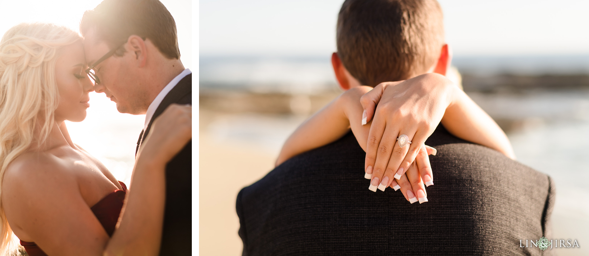 10 Orange County Sunset Beach Engagement Photography