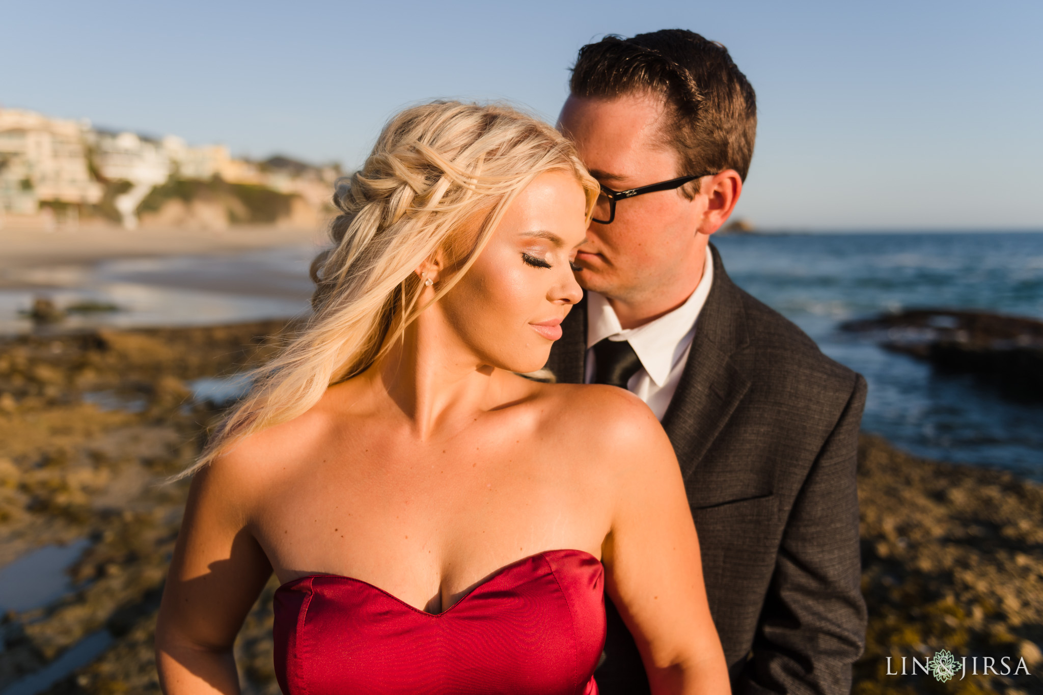 11 Orange County Sunset Beach Engagement Photography