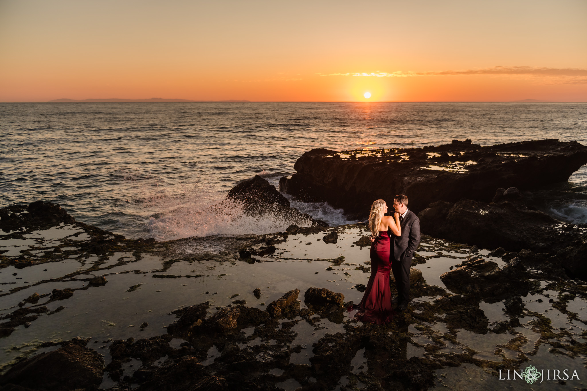 14 Orange County Sunset Beach Engagement Photography