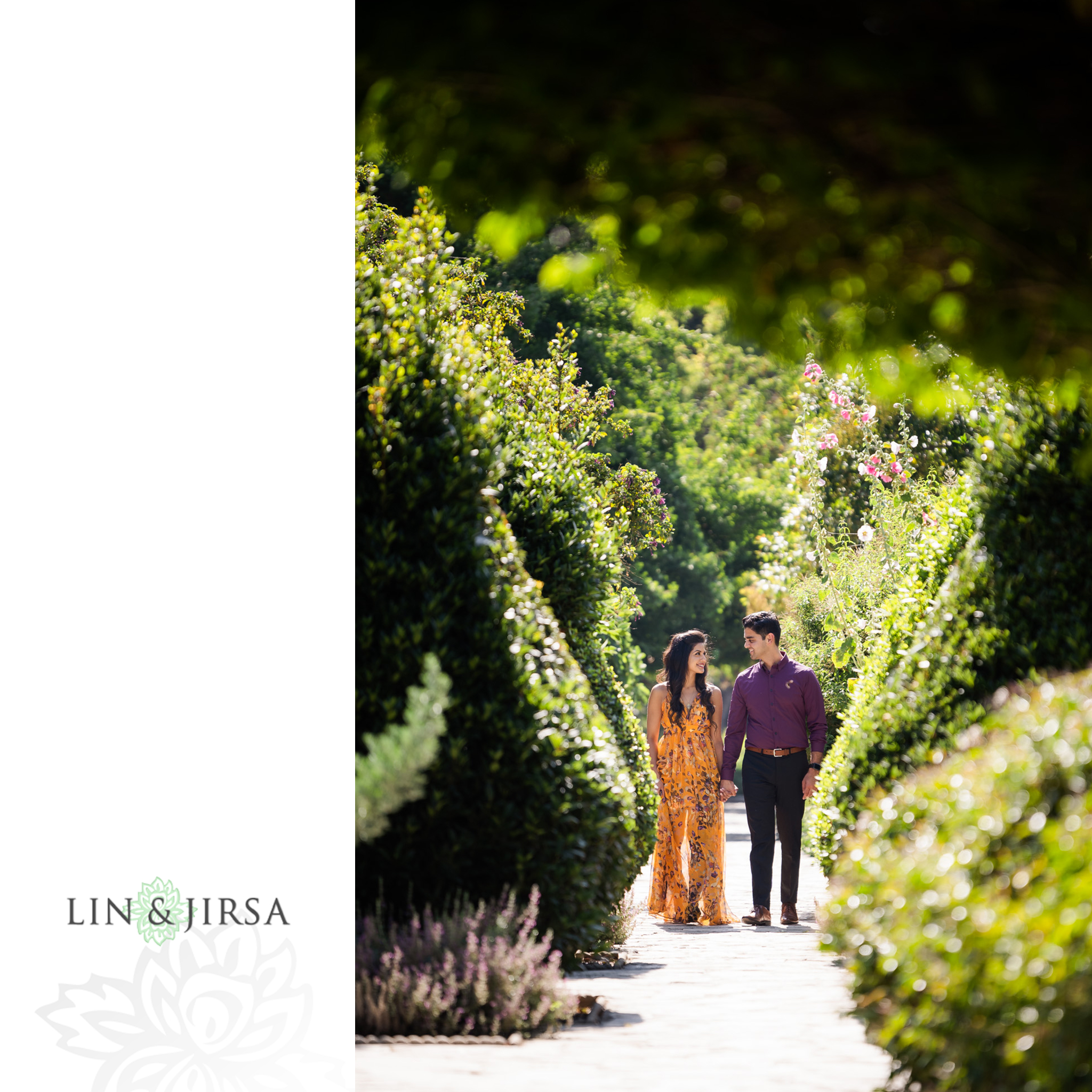 zjg Los Angeles Arboretum Arcadia Engagement Photography