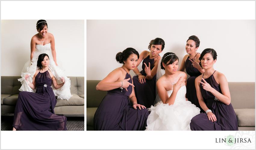04-skirball-cultural-center-wedding-photographer-bride-with-bridesmaids-pics