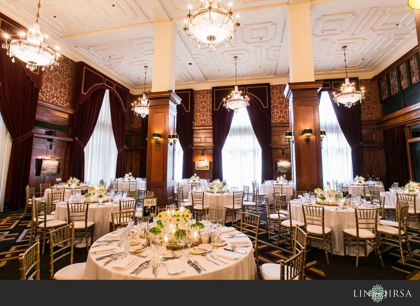 Los Angeles Athletic Club Wedding Photographer Wedding Reception Decor