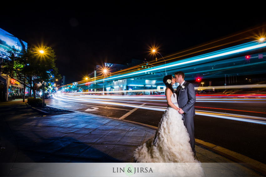 32-the-london-west-hollywood-hotel-wedding-photographer-bride-and-groom-nighttime-portrait
