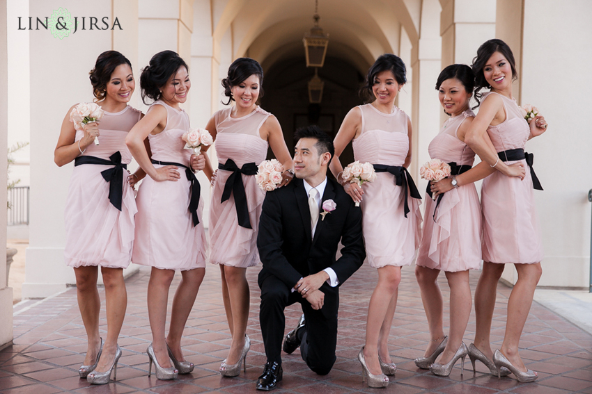 15-the-langham-huntington-pasadena-wedding-photography-groom-and-bridesmaids