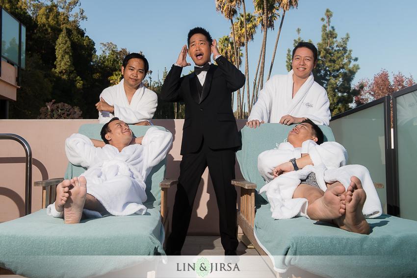 05-hotel-bel-air-los-angeles-wedding-photographer-groom-with-groomsmen