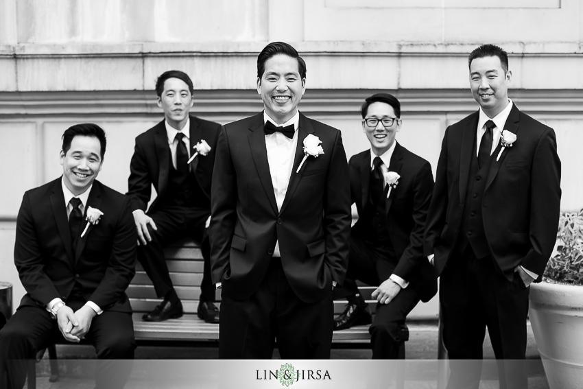 11-millennium-biltmore-hotel-los-angeles-wedding-photographer-groom-and-groomsmen-photos