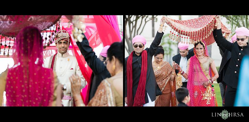 12-hyatt-long-beach-indian-wedding-photographer-indian-bride-walking-down-center-aisle