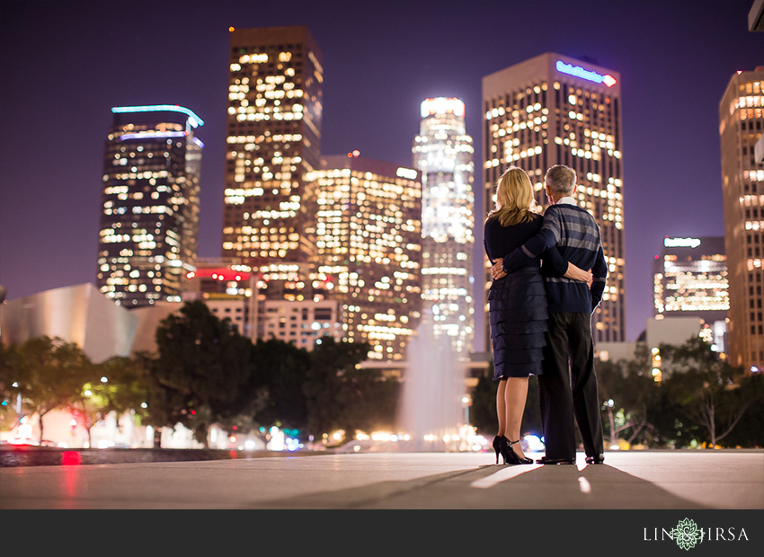 10 Gorgeous Downtown Los Angeles Night Time Engagement