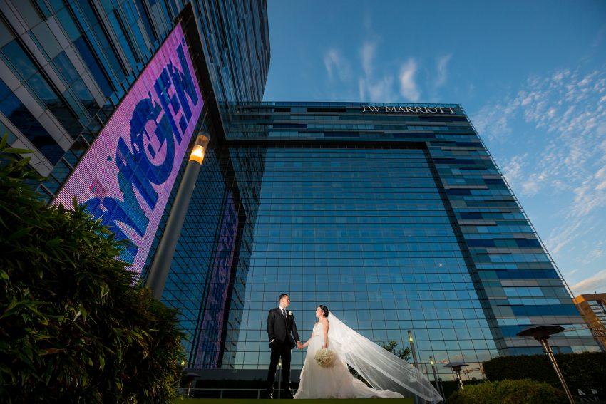 0461-LJ-JW-Marriott-LA-Live-Hotel-Los-Angeles-Wedding-Photography